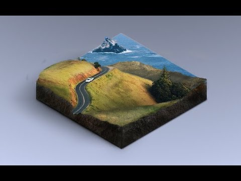 How To Create 3D Landscape Icon in Adobe Photoshop
