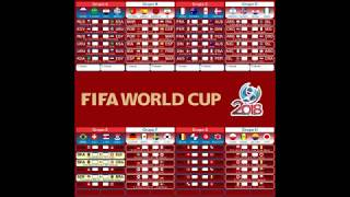 Tabela da Copa do Mundo Oficial