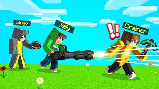 SPEEDRUNNER vs. MINIGUN HUNTERS In MINECRAFT!