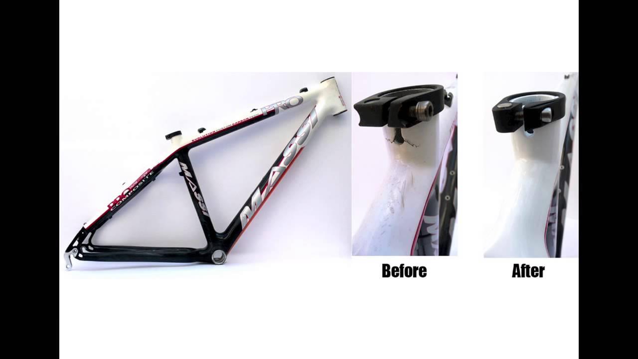 Reparación cuadros de carbono y aluminio. CARBONOEXPRESS - YouTube