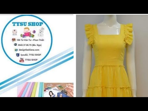 704_ Dạy Cắt May Áo Đầm | tysu shop |sewing diy clothes| sewing online class free