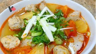 Bún Chả Cá Hồi -  Cách Làm Chả Cá - Fish Cake Noodle Soup