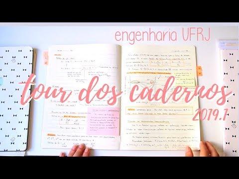 Tour pelos meus cadernos da faculdade 2019.1 l Engenharia UFRJ