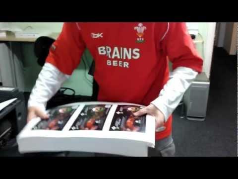 Digital Printing Wales - WRU Grand Slam CD Booklets