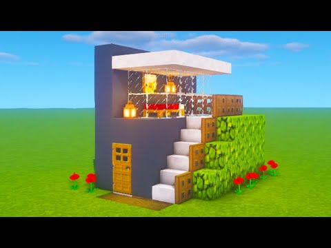 """minecraft-tutorial:-how-to-make-the-easiest-modern-house-ever-made-""""2020-tutorial"""""""