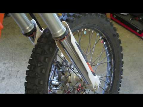 Revisited: Changing oil on WP 48mm open chamber forks on a KTM 2016 350 EXC-F