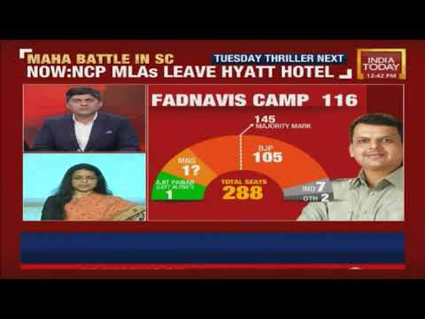NCP MLAs Show Of Solidarity First Exposed On India Today | Watch Updates