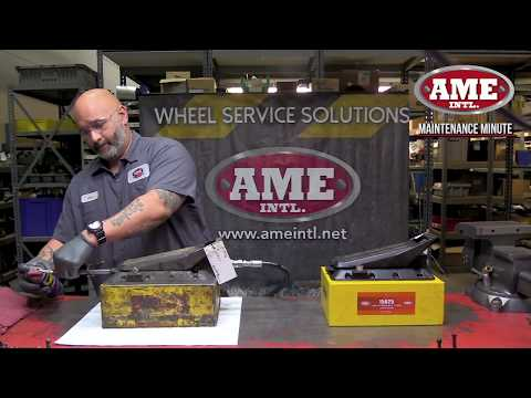 How to Maintenance your Air Hydraulic Pump  #15025 #15920 - Maintenance Minute by AME Intl