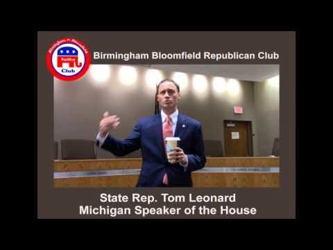 Speaker of the House Tom Leonard