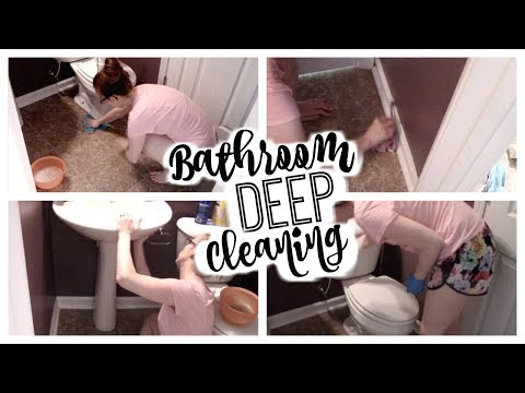 BATHROOM DEEP CLEANING ROUTINE! | How to Deep Clean a Bathroom | Clean With Me!