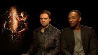 Anthony Mackie and Sebastian Stan on Batman v Superman: Dawn of Justice!