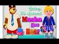 Masha and Bear Going To School! NEW Masha i Misha Game For Kids