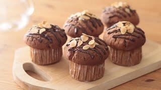 チョコチップ・マフィンの作り方 Chocolate Muffin HidaMari Cooking