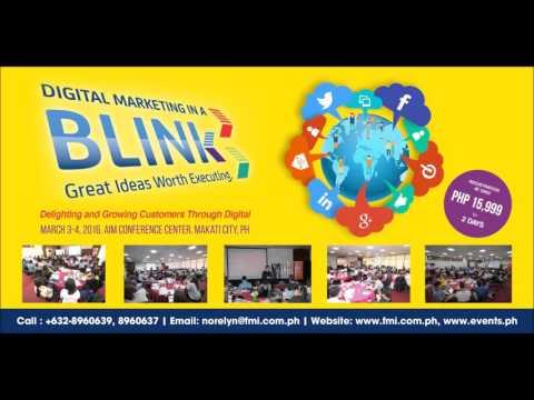 Digital Marketing In A BLINK Seminar 2016 Radio Ad