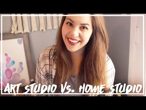 Working in an Art Studio vs. A Home Studio? ♥ Paige Poppe, Artist