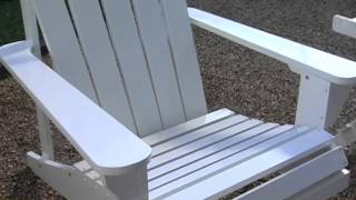 Coral Coast Adirondack Chair And Ottoman And Side Table Set White - Product Review Video