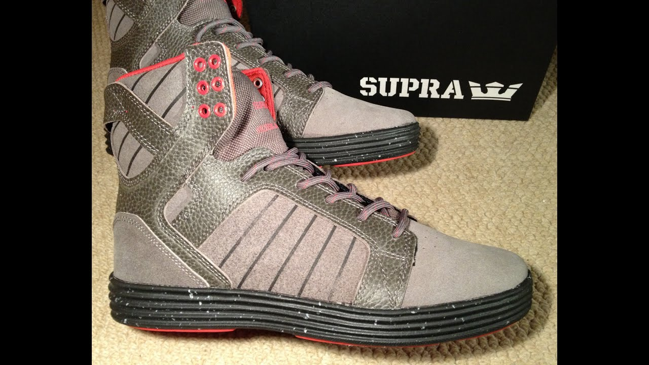 SUPRA SKYTOP LITE Shoes 2013 Release CHARCOAL   DARK SHADOW-BLACK Chad  Muska Unboxing Size 8 UK - YouTube 4c025c865