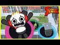 Let's Play Hole.io with Combo Panda! I ATE A WHOLE BUILDING !!!
