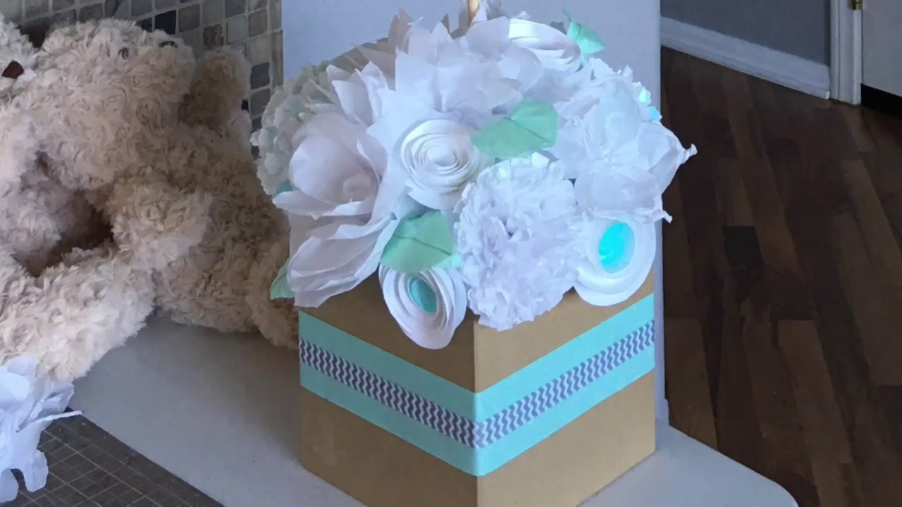 Centro de mesa para baby shower youtube for Mesa baby shower nino