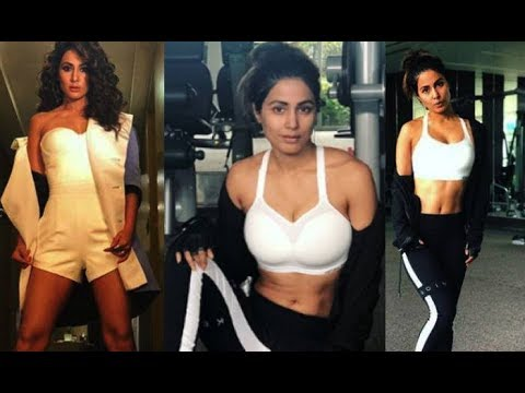 Hina Khan Flaunt Her S#xy Figure Gym Workout