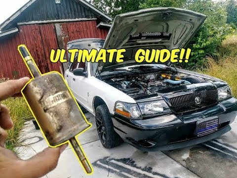 How to Change Fuel Filter 1998-2011 Crown Victoria, Grand Marquis and  Lincoln Town car - YouTubeYouTube