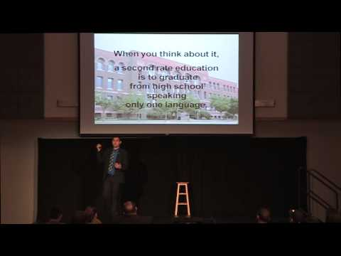Bilingualism and multilingualism: Samuel Aguirre at TEDxNEIU