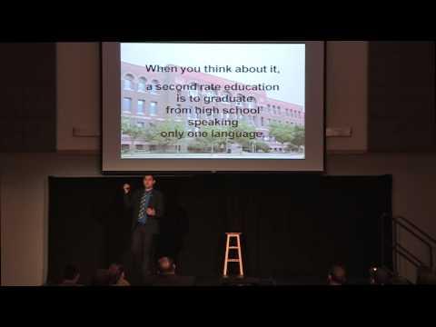 Bilingualism and multilingualism: Samuel Aguirre at TEDxNEIU