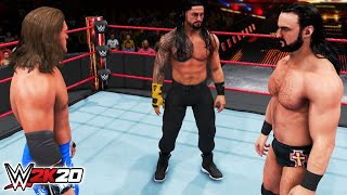 Roman Reigns vs Edge vs Drew McIntyre WWE 2K20 Gameplay