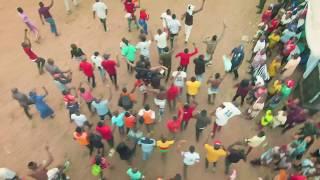 Shot With DJI Mavic 2 Zoom. African Village Football Match $ Penalty Shootout.