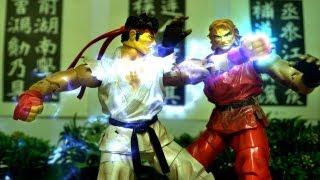 Street Fighter Stop Motion - Ryu VS Ken 龍與肯