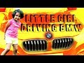 Little Girl Driving Her BMW- Kids Cars- New Car For Kids- Family Friendly- Ride On Car