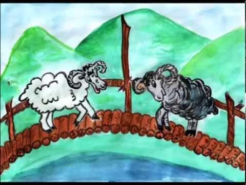 Мультфильм про баранов на мосту