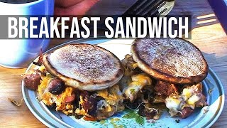 Sausage, Egg And Cheese Breakfast Sandwich By The Bbq Pit Boys