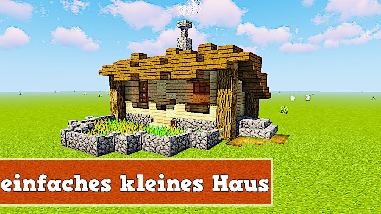 wie baut man ein kleines und einfaches haus in minecraft youtube. Black Bedroom Furniture Sets. Home Design Ideas
