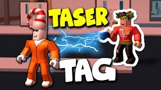 TASER TAG IN ROBLOX JAILBREAK!!