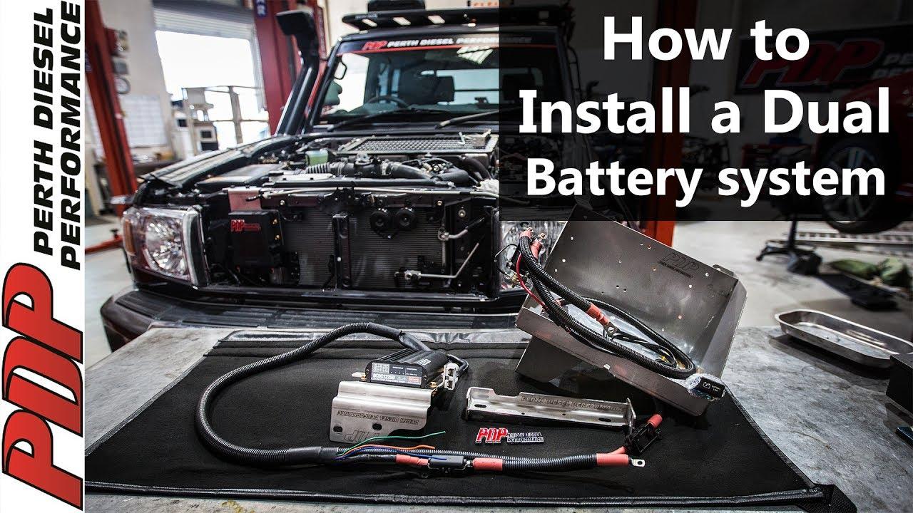 dual battery wiring diagram 5 way trailer light diy install - landcruiser 70 series v8 youtube