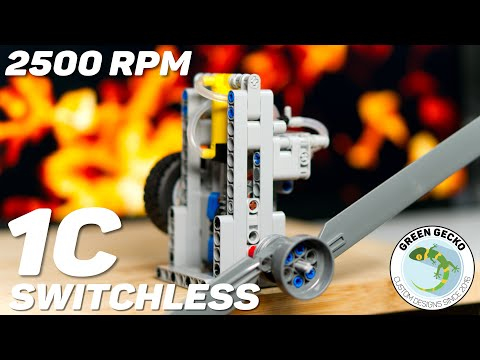 LEGO Technic 1 Cylinder Switchless Pneumatic Engine - 2500 RPM! LPE MOC - w/ Instructions