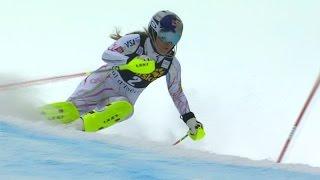 Lindsey Vonn - Alpine Combined Run 2 (Slalom) - Val d