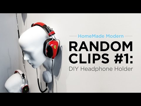Headphone holders made out of a cut off Mannequin Head