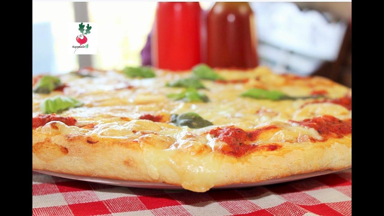 PIZZA FACILE E VELOCE pizza IN TEGLIA DA FARE IN CASA ricetta semplice pizza alta fatta in casa