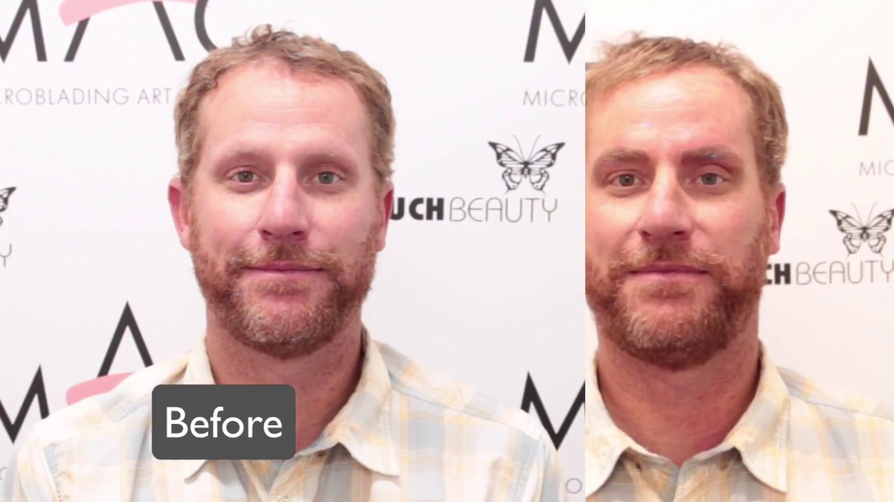 Tattoo Microblading Men's Eyebrows See Before and After ...