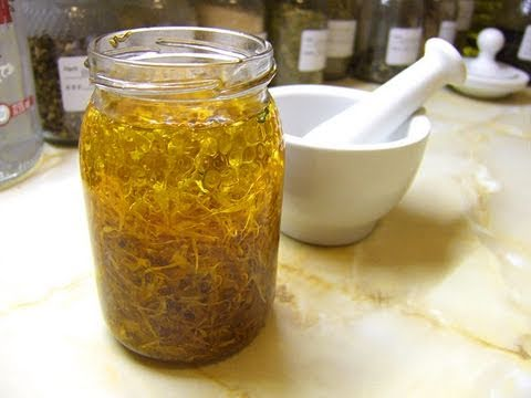 How To Make An Infused Oil - Herbalism Basics 4