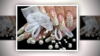 Маникюр на свадьбу. Свадебный маникюр невесты.