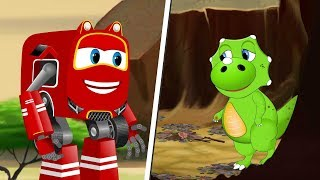 SuperCar Rikki rescue Little Dino Trapped in Jungle | Kids Cartoon song