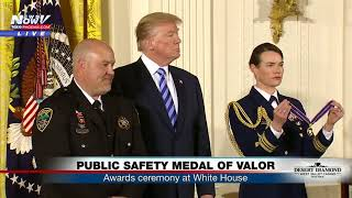 HEROES: President Trump Honors Law Enforcement At The White House (FNN)