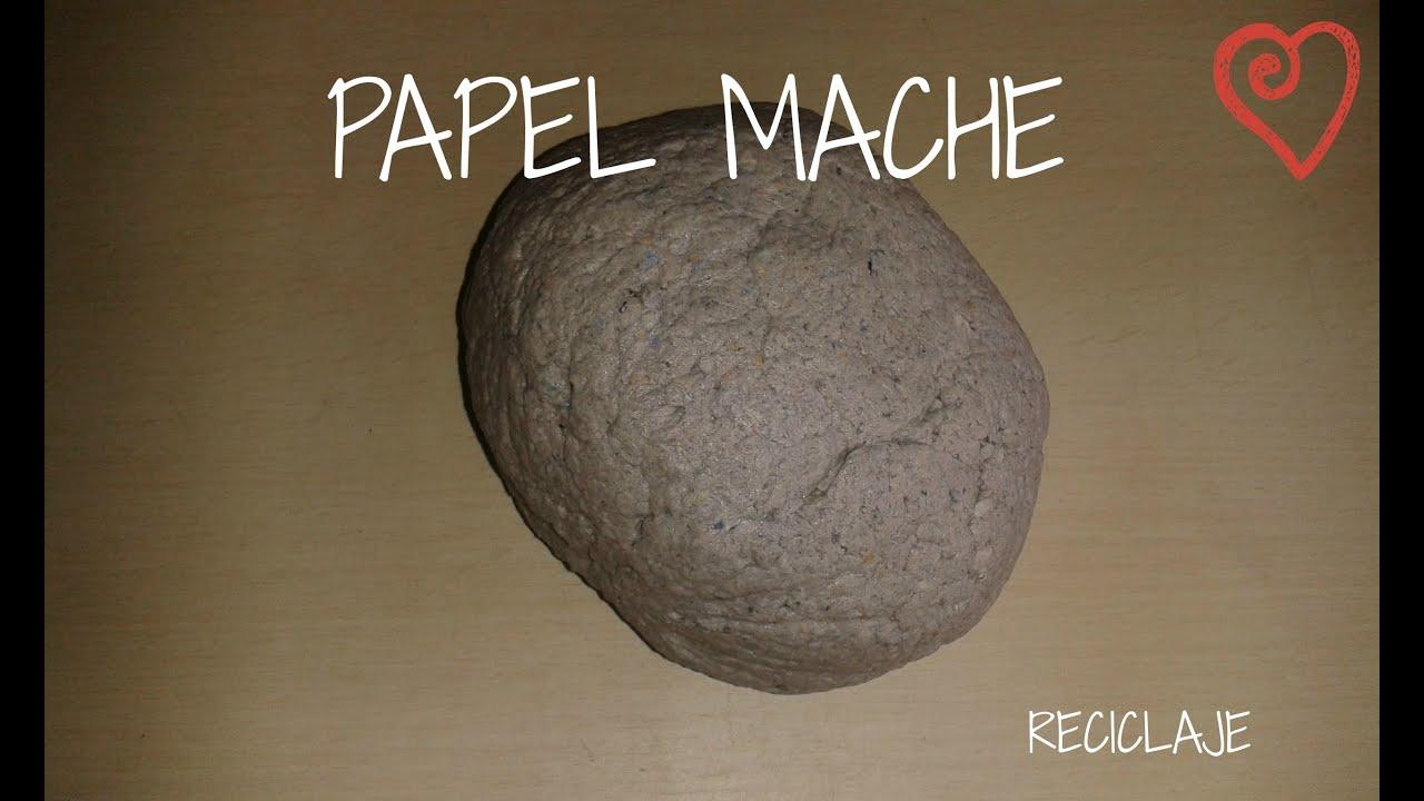 Como hacer papel mache facil y rapido youtube - Como hacer jarrones de papel ...