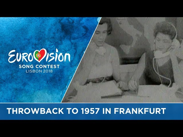 #ThrowbackThursday to 60 years ago: The 1957 Eurovision Song Contest in Frankfurt