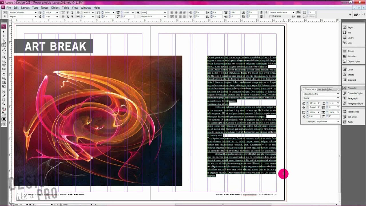 How To Design A Magazine Article // MAGAZINE DESIGN