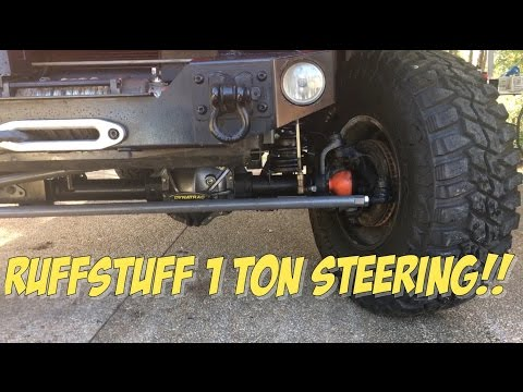 Jeep Wrangler affordable RuffStuff 1-TON steering upgrade,
