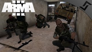 M27 IAR & Flying Cars - ArmA 3 - Midnight IED Factory Destruction 1440p60
